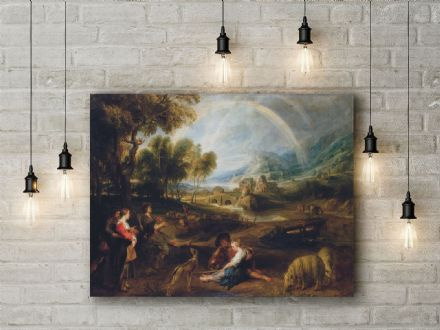 Peter Paul Rubens: Landscape with a Rainbow. Fine Art Canvas.